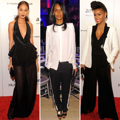 Celebrities Wearing Tuxedo-Inspired Looks 2012