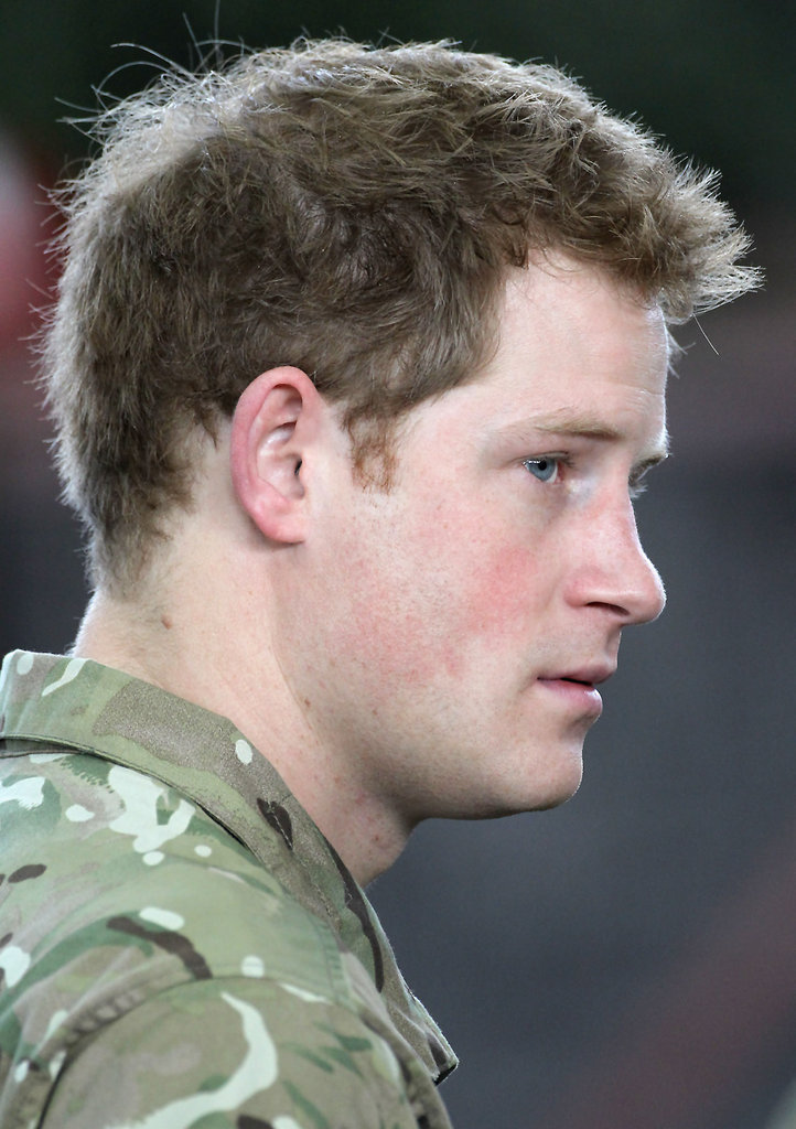 Prince Harry looked handsome.