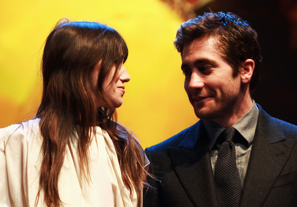Charlotte Gainsbourg chatted with Jake while hanging out on stage.