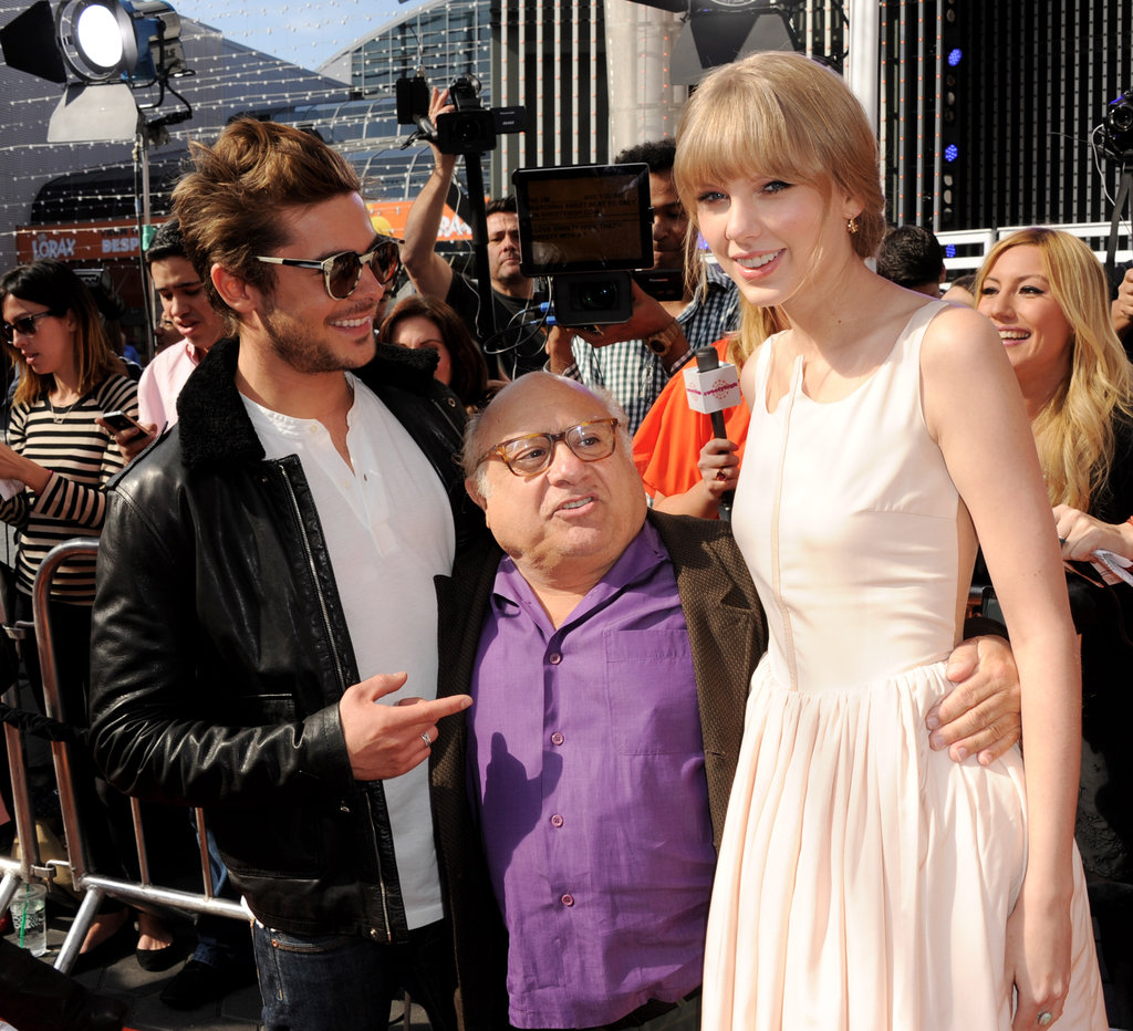 Zac Efron, Danny DeVito and Taylor Swift