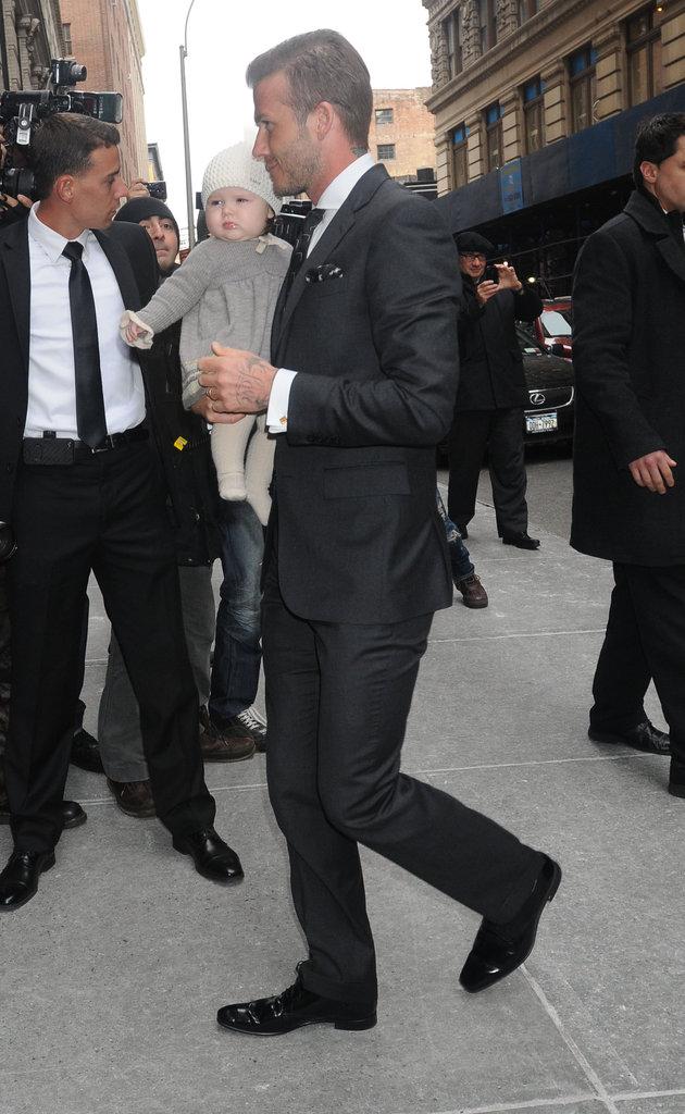 David Beckham brought Harper Beckham to NYFW.