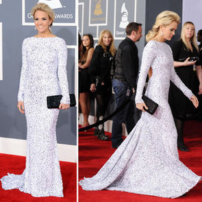 Pictures of Carrie Underwood in Gomez Garcia on the Red Carpet at the 2012 Grammy Awards: Rate It or Hate It?