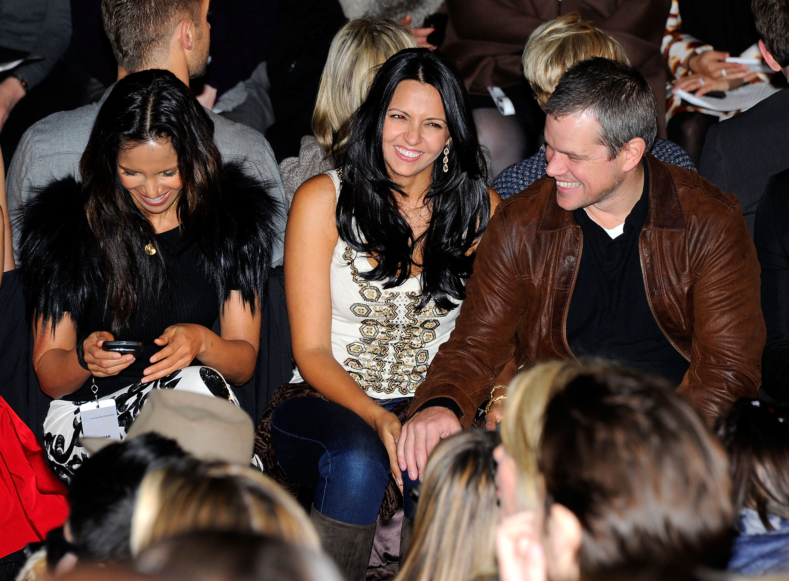 Matt Damon Spends Valentine's Day at Fashion Week With His Love, Lucy