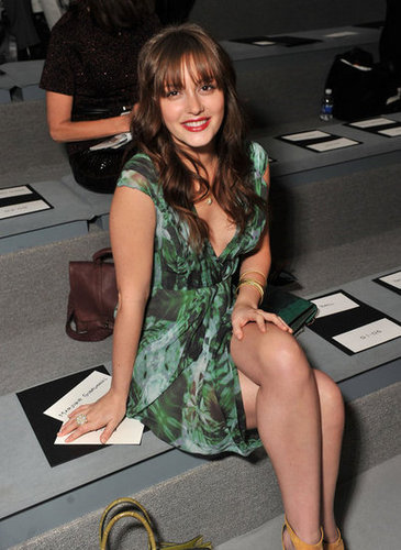 Leighton Meester went to Vera Wang.