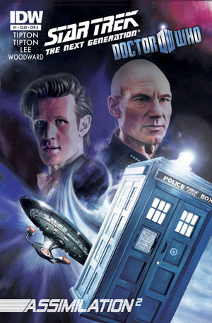 Doctor Who and Star Trek: The Next Generation Comic Book Picture