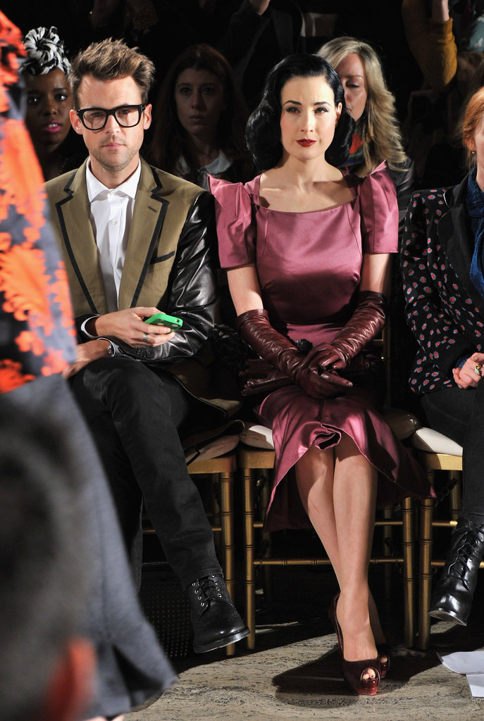 Brad Goreski and Dita Von Teese at Zac Posen