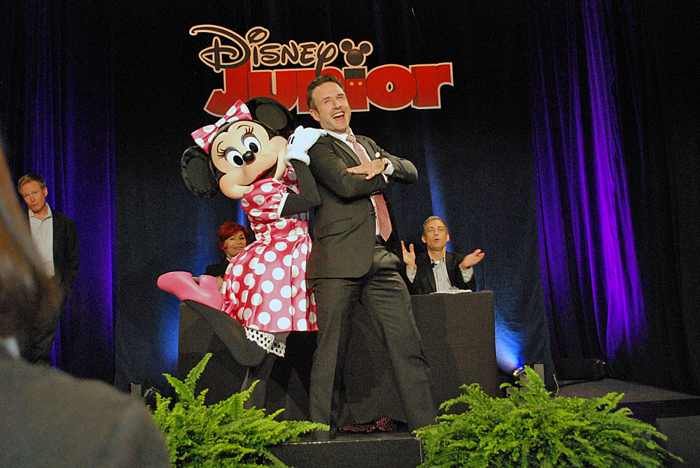 David Arquette and Minnie Mouse