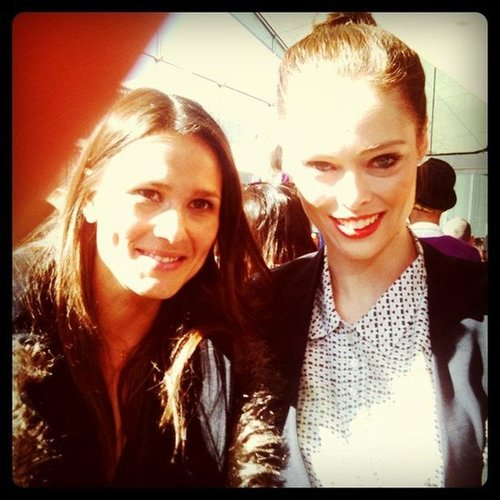 Associate Editor Hannah chatted with Coco Rocha at Rachel Roy's Fall 2012 presentation.