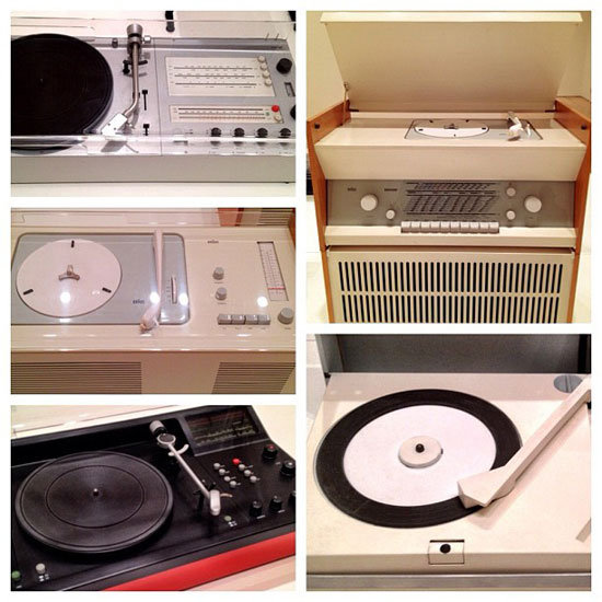 Rams-designed record players were the first to use a clear plastic cover over the turntable, which became an industry standard.