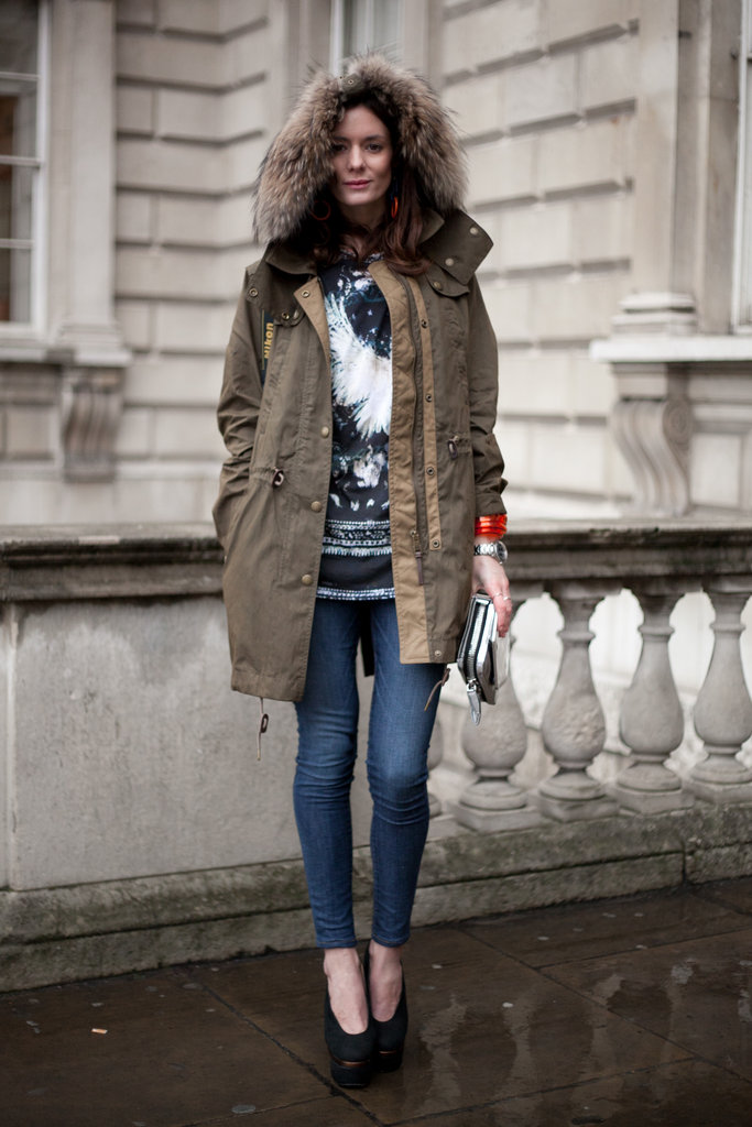 Fur-lined hoods add an element of glam to even the most casual outfits.