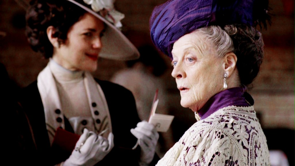 """Cora Crawley: """"I hate to go behind Robert's back.""""  Lady Violet: """"That is a scruple no successful wife can afford."""" Photo courtesy PBS"""