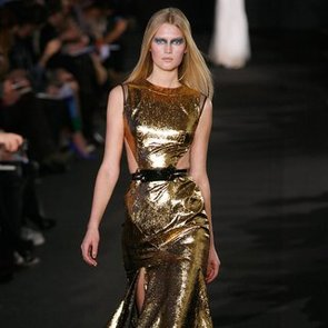 Video: Try the Glamourous Gold Trend From New York Fashion Week Runways