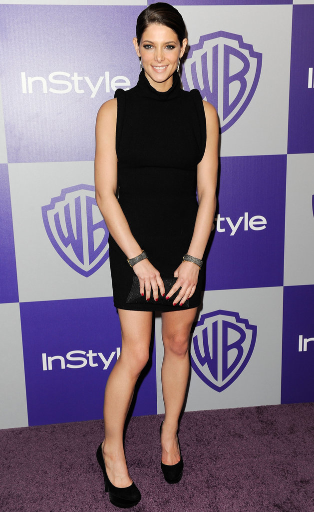 A chic black mini at the Golden Globes afterparty in 2010.