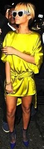 Rihanna Chartreuse Dress