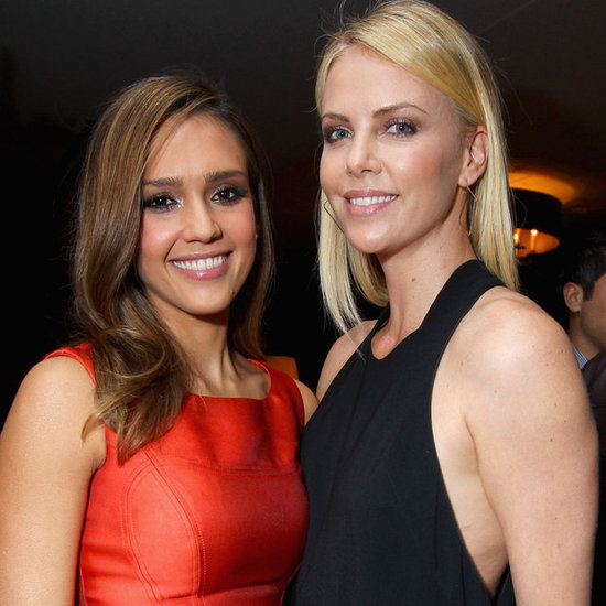 Jessica Alba and Charlize Theron Party Pictures