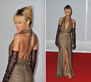 Rihanna Wears Givenchy Spring 2012 Haute Couture on the Red Carpet at the 2012 Brit Awards