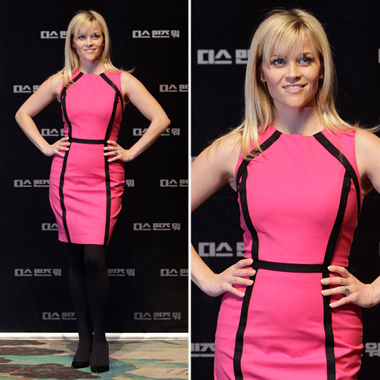 Reese Witherspoon Pink and Black Dress