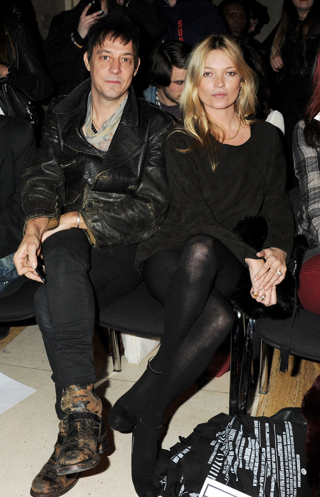 Kate Moss and Jamie Hince were front row for the James Small show.
