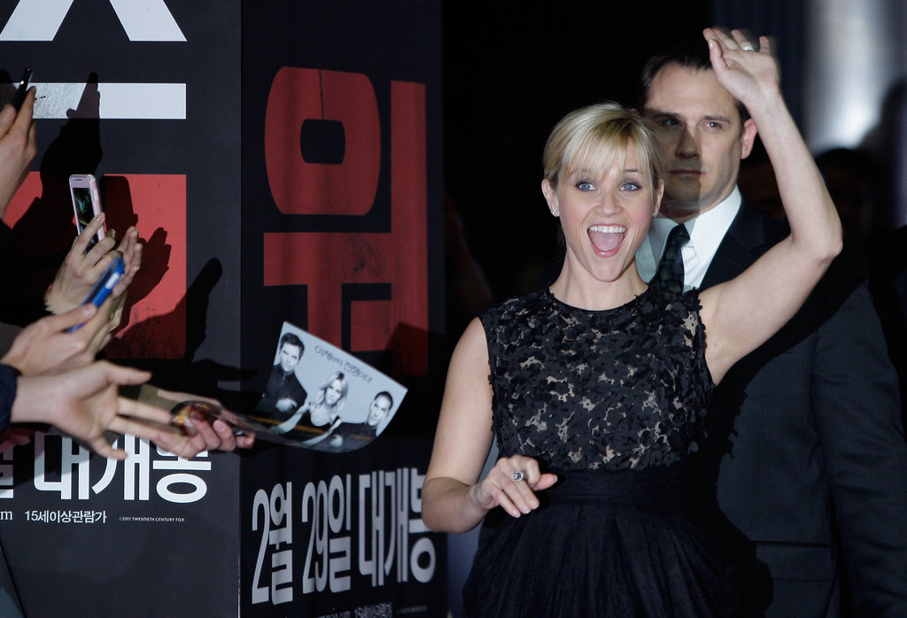 Reese Witherspoon waved to fans.