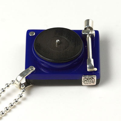 Blue acrylic vinyl and sterling silver turntable ($308)