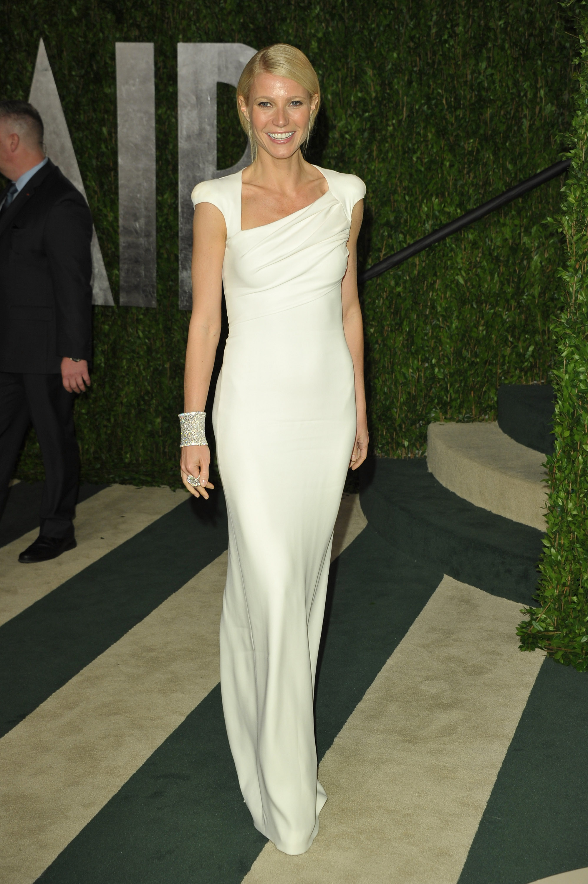Gwyneth Paltrow arrives at the Vanity Fair party.
