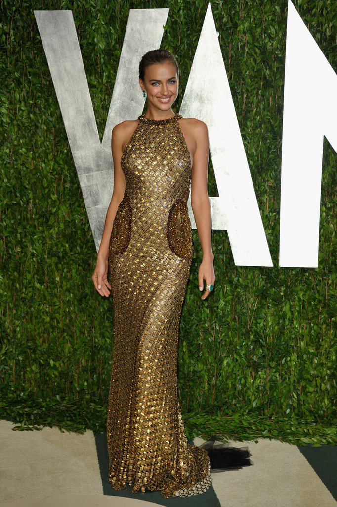 Irina Shayk might look pretty demure in the front . . .