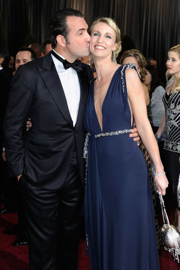 Jean dujardin and alexandra lamy oscar couples shine at for Jean dujardin parents