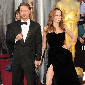 Brad Pitt and Angelina Jolie Sexy Leg Pictures at 2012 Oscars