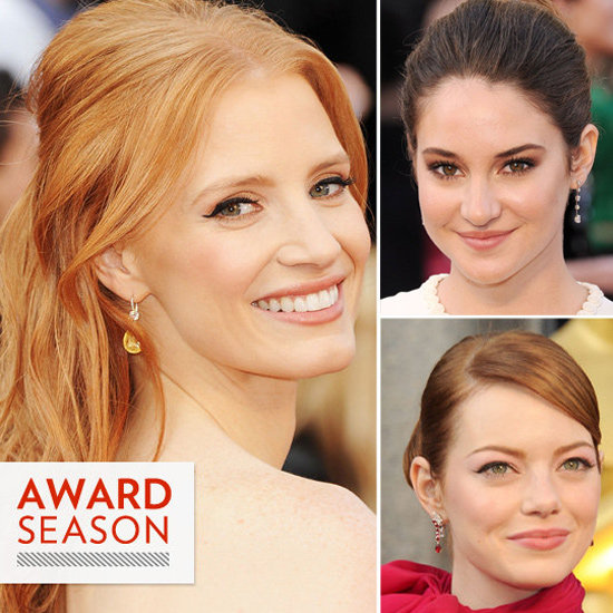2012 Oscars: See All the Hair and Makeup Looks Up Close!
