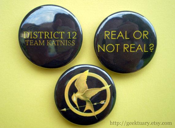 Team Peeta or Gale Pins
