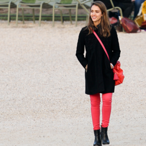 Jessica Alba Steps Out Twice in Pastel Coloured Jeans in Paris for Fashion Week: Snoop Her Celeb Denim Style!