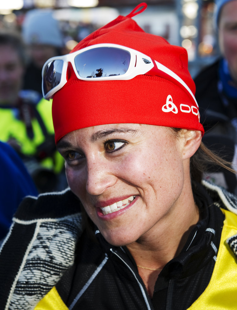 Pippa Middleton spoke after a cross-country ski race.