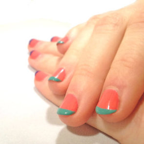 How to Do a French Manicure With Color