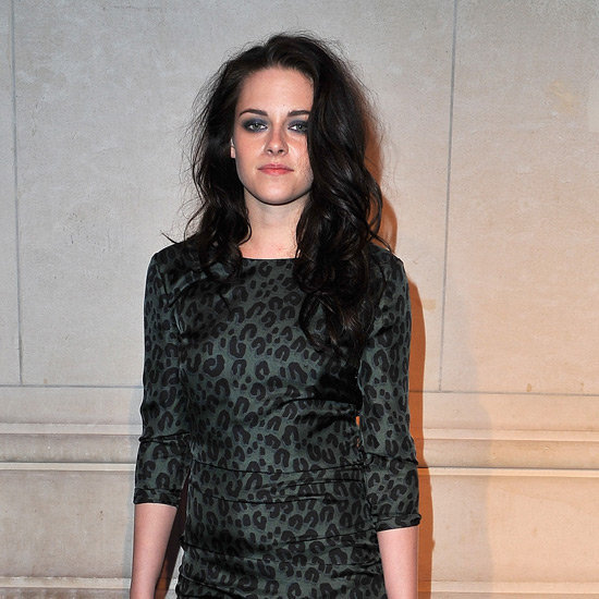 Kristen Stewart Leopard Print Dress Pictures at Louis Vuitton Exhibit