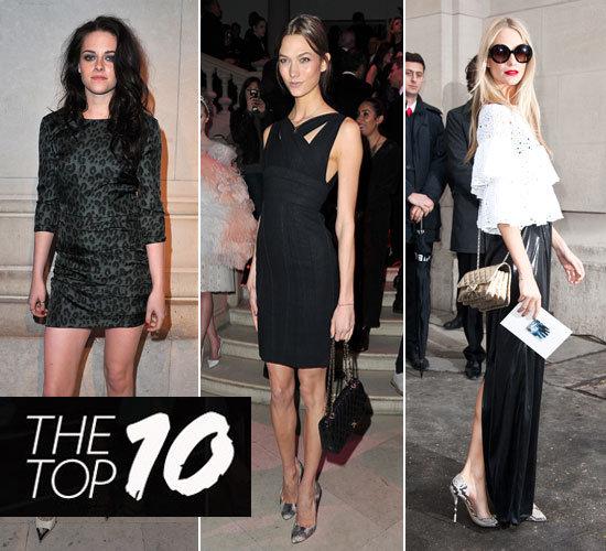 Pictures of This Week's Top Ten Best Dressed Celebrities 11th March 2012 Karlie Kloss, Kristen Stewart, Poppy Delevingne & More