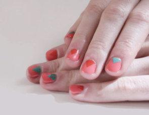 Reverse French Manicure Nail Art Idea