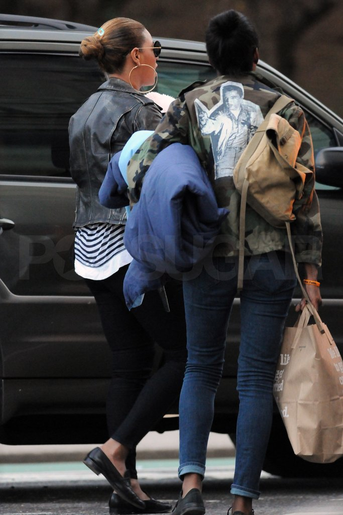 Beyonce Knowles and daughter Blue Ivy Carter.