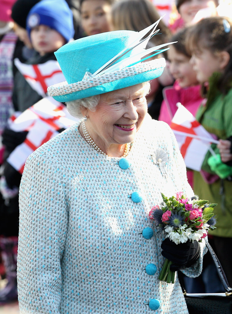 The queen wore a fun hat on Accession Day.