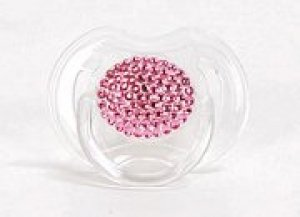 Abbey Hill Pink & Crystal Pacifier ($40)