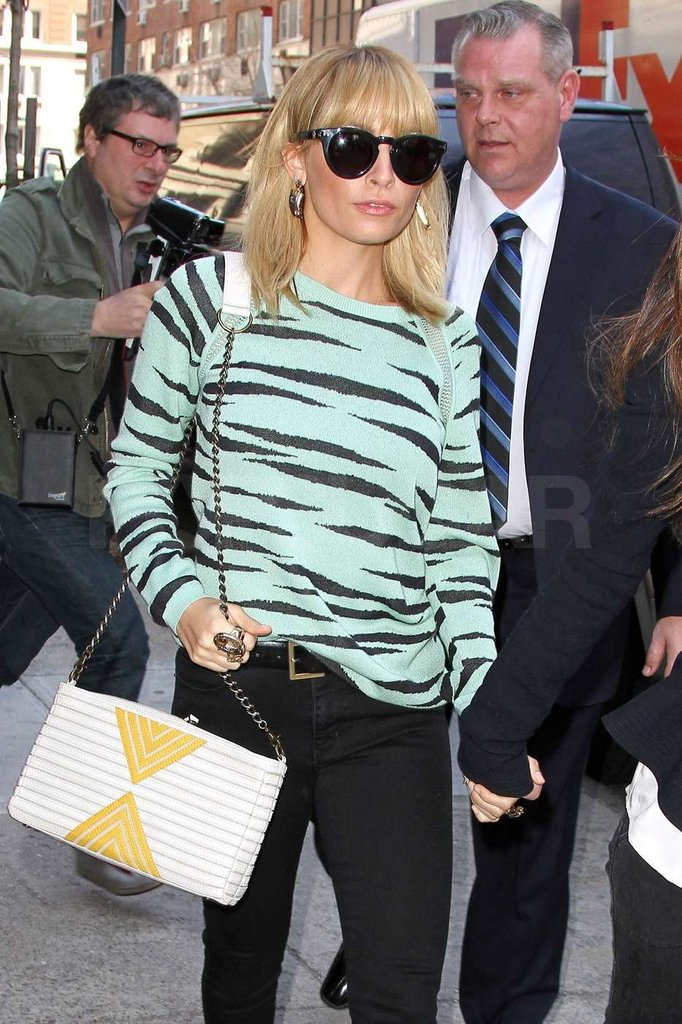 Nicole Richie is promoting Fashion Star.