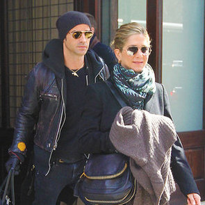 Jennifer Aniston and Justin Theroux Pictures Leaving Greenwich Hotel