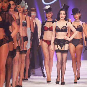 See Dita von Teese Strut the LMFF Runway in Her Sexy Lingerie Line for Target!