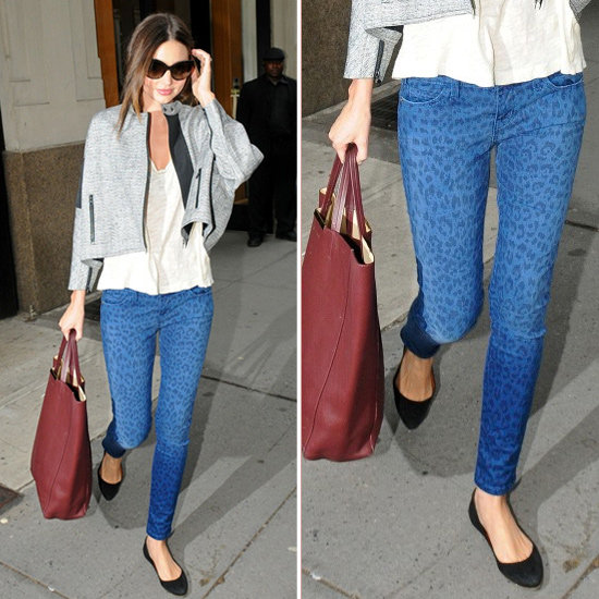 Miranda Kerr Leopard Skinny Jeans