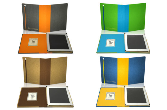 The Spring/Summer 2012 DODOcase collection ($80 each) includes four bold two-tone cases, inspired by California landscapes. Make your new iPad stand out while keeping it protected.