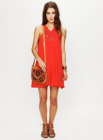 This laid-back dress gets a bohemian touch via a sequin neckline detail.  FP ONE Twiggy Embellished Dress ($148)