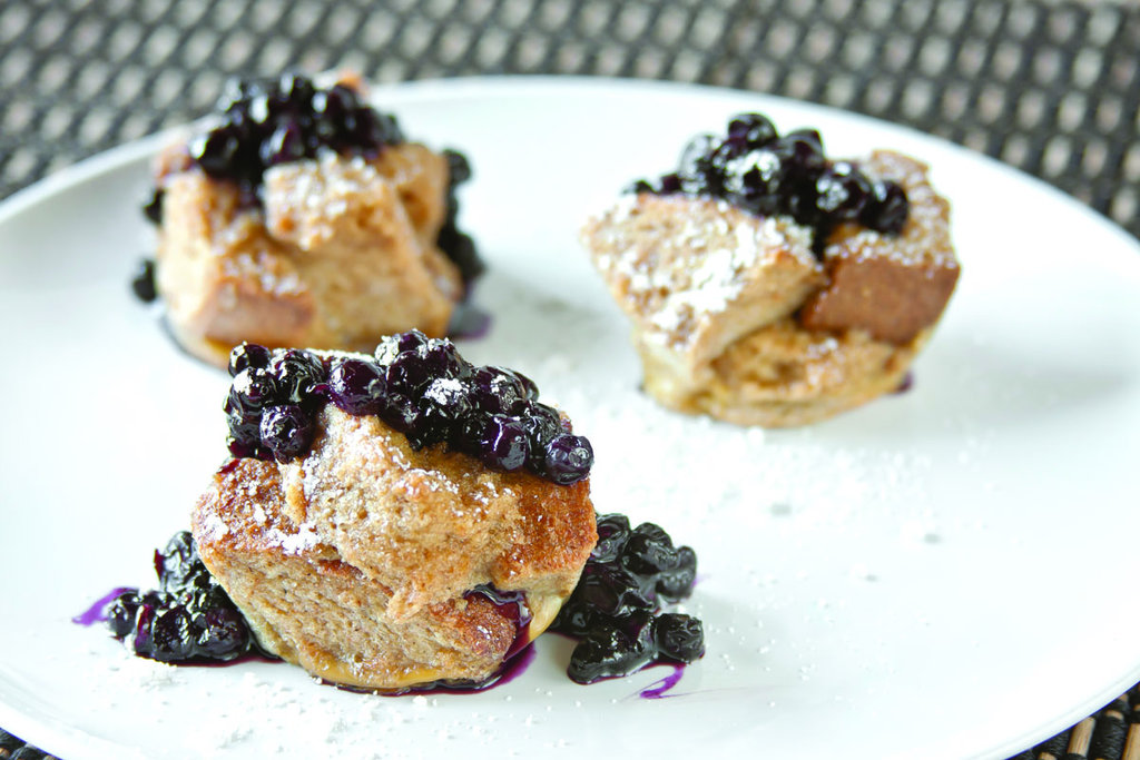 French Toasties With Blueberry Compote