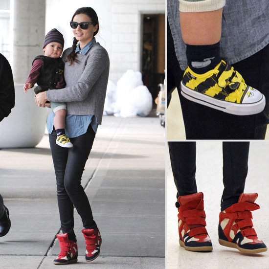 Miranda Kerr and Flynn Bloom Step Out in Matching Trainers in NYC; Scope Their Designer Sneaker Style