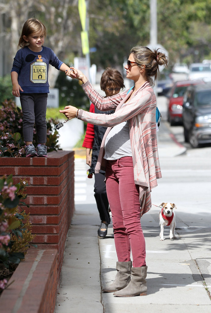 Alessandra Ambrosio Bumps and Bounces Around With Anja in LA