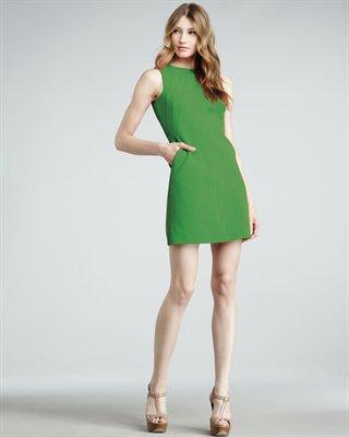 Capreena Twill Shift Dress