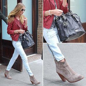 Rosie Huntington-Whiteley Burberry Bag March 2012